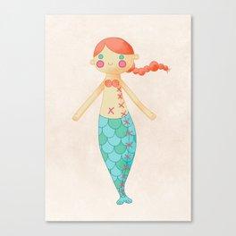 Mermaid doll Canvas Print