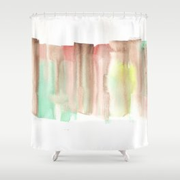 [161228] 24. Abstract Watercolour Color Study|Watercolor Brush Stroke Shower Curtain