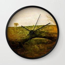 Textured Field Wall Clock