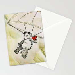 It comes when the wind is right. Stationery Cards