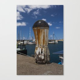 Weathered Bollard Canvas Print