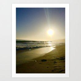 Golden Coast Sunset Art Print