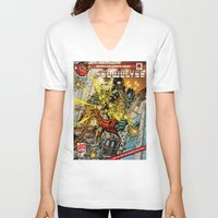 transformers V-neck T-shirts featuring transformers by Haribow
