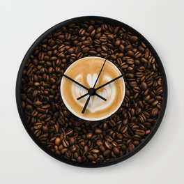 Coffee Beans & Coffee Cup Wall Clock