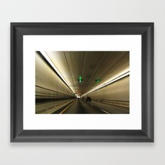 The Tunnel Framed Art Print