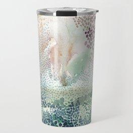 Flower burst; gold Travel Mug
