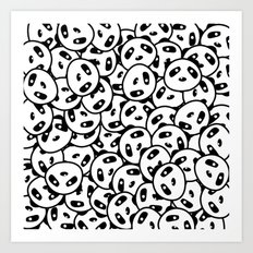 Pandamonium (Patterns Please Series #2) Art Print