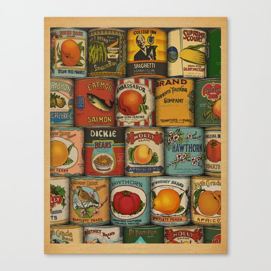 Canned in the USA Canvas Print