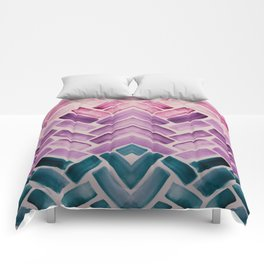Decor Colorful Watercolor Abstract Pattern Comforters