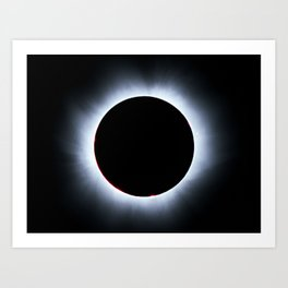 Solar Corona during Solar eclipse Art Print