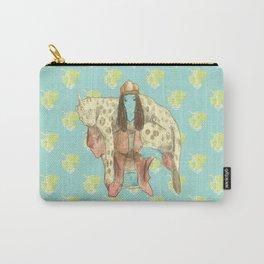 alien girl and jaguar unicorn pet Carry-All Pouch
