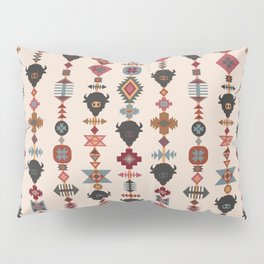 American Prairie Ethnic Tribal Seamless Pattern Pillow Sham