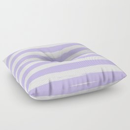Lavender Purple Gross Stripes Floor Pillow