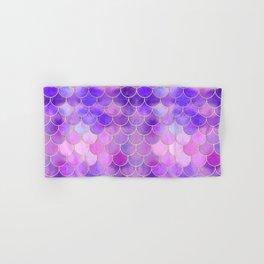 Ultra Violet & Gold Mermaid Scale Pattern Hand & Bath Towel