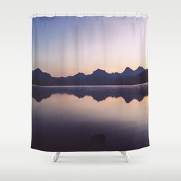 Sunrise over Glacier Shower Curtain