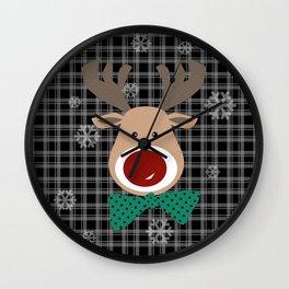 Deer. Patchwork 2 Wall Clock