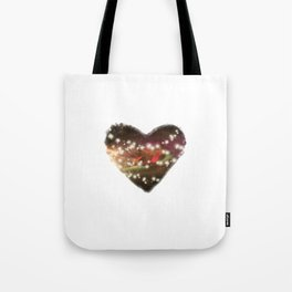 Space Heart Tote Bag