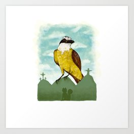 Bichofue cali // great kiskadee colombia Art Print