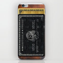 Amex in your hand - phone case - leather bg iPhone Skin