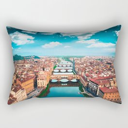 ponte vecchio in florence Rectangular Pillow