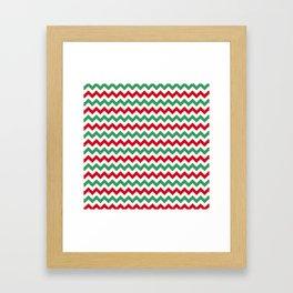 Christmas Chevron Print Framed Art Print