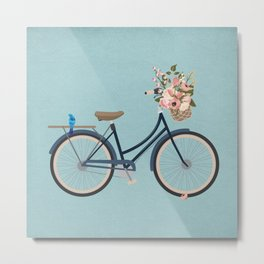 Vintage Navy Bicycle Metal Print