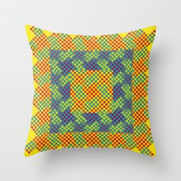 Dot Swatch Equivocated on Yellow Throw Pillow