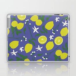 Lemon Floral Pattern Laptop & iPad Skin