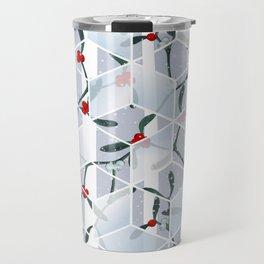 Geometric Mistletoe Holiday Design Travel Mug