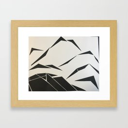 When Mountains Move - B Framed Art Print