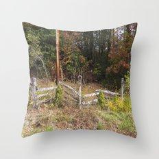 Three bird houses  Throw Pillow