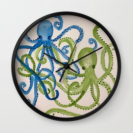 octopodes in love Wall Clock