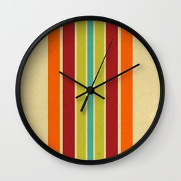 Retro 70s Color Palette IV Wall Clock