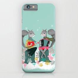 Squirrels' Christmas by Andrea Lauren  iPhone Case