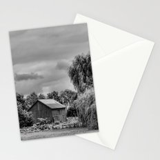 Down on the Farm Black and White Stationery Cards