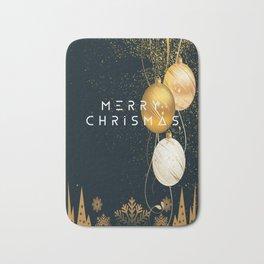 merry chrismas card Bath Mat