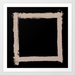 Square Strokes Nude on Black Art Print