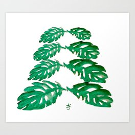 Holiday Tree Leaves perfect for a card Art Print