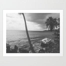 Washed Up (B&W) Art Print