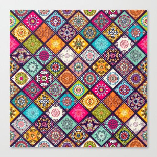 bohemian pattern Canvas Print