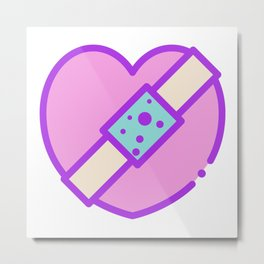 Mend your Heart Metal Print