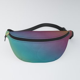 Bohek Bubbles on Rainbow of Color - Ombre multi Colored Spheres Fanny Pack