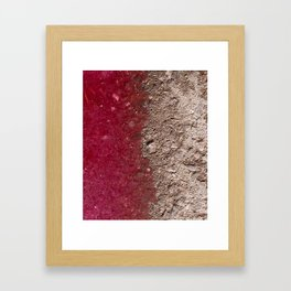Grape Asphalt Framed Art Print