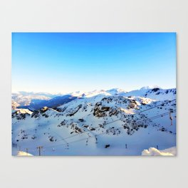 Shades of blue at the mountains Canvas Print
