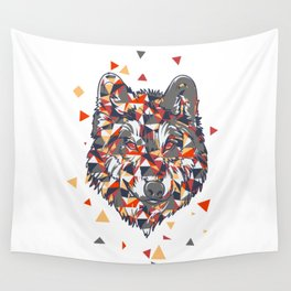 POLYGON WOLF Wall Tapestry
