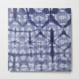 Tie Dye 2 Navy Metal Print