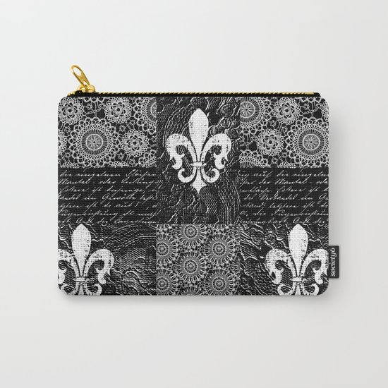 Black and white lace Carry-All Pouch