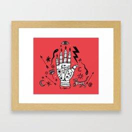 Spiritual Hand Framed Art Print