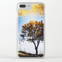 "Original Painting ""Foggy Sunrise"" Clear iPhone Case"