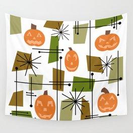 Halloween Mid Century Modern Wall Tapestry